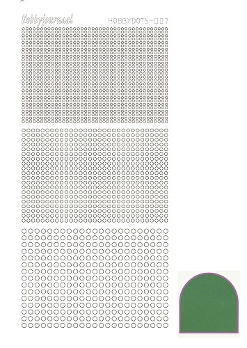 Hobbydots sticker - Mirror - Green
