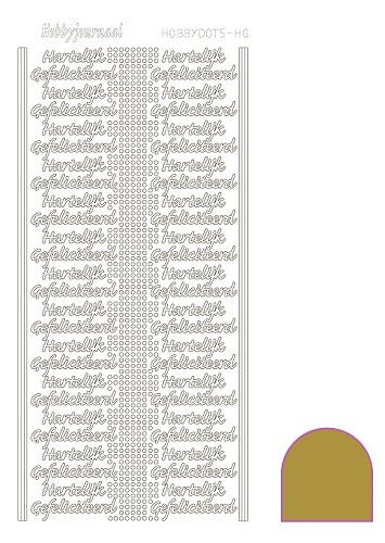 Hobbydots sticker - Mirror - Gold