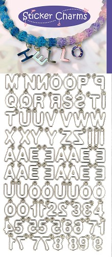 Sticker Charms - ABC-123 White