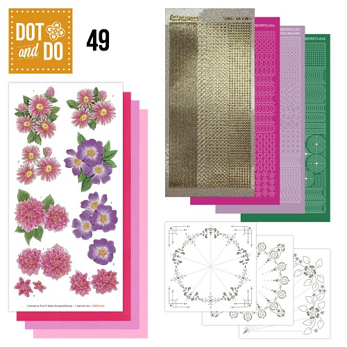 Dot and Do 49 - Roze Bloemen