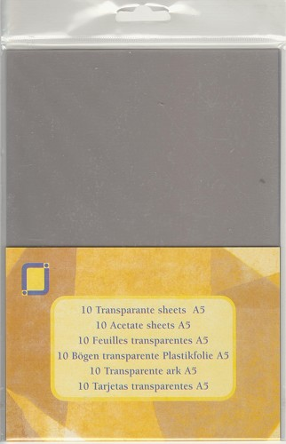 Transparante sheets Mica A5