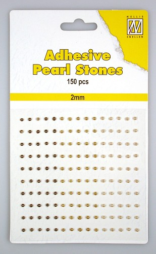 150 Adhesive pearls 2mm, 3-colors - Brown