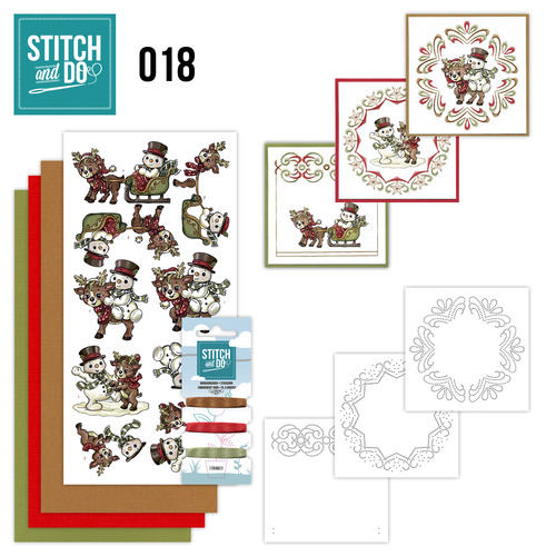 Stitch and Do 18 - Snowman and Reindeer