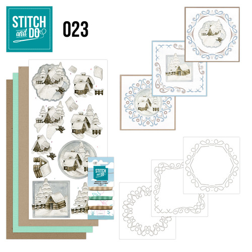 Stitch and Do 23 - Snow Cabins