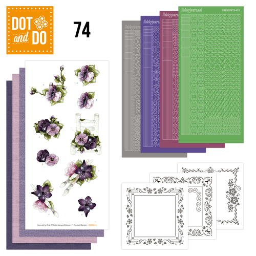Dot and Do 74 - Purple Flowers