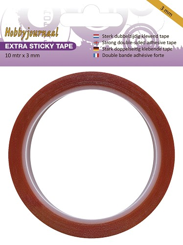 Hobbyjournaal - Extra Sticky Tape - 3 mm