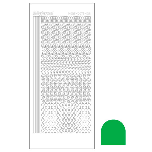 Hobbydots sticker - Adhesive Green