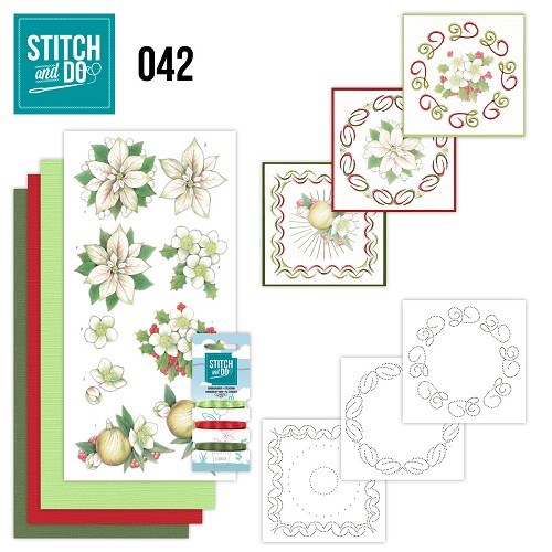 Stitch and Do 42 - White Christmas Flowers