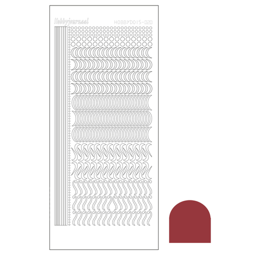 Hobbydots sticker - Mirror Christmas Red