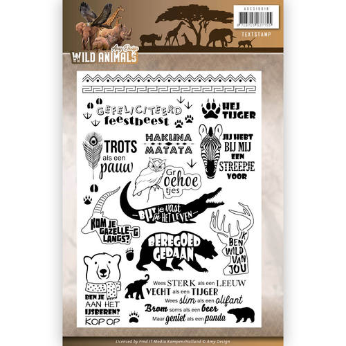 Clearstamp - Amy Design - Wild Animals - Tekst