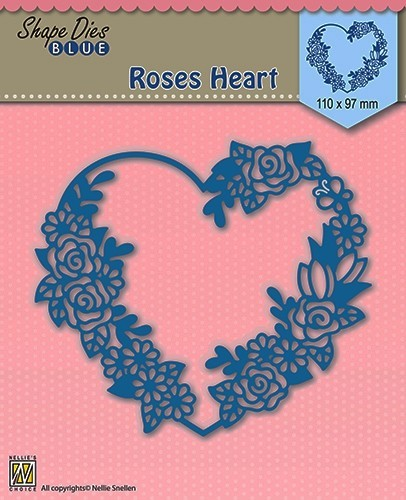 Shape Die Blue- Roses heart