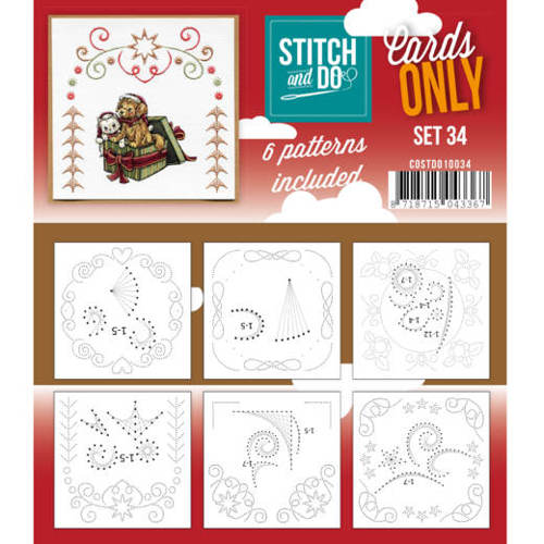 Cards only stitch 34
