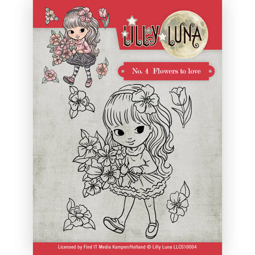 Clearstamp -Lilly Luna - 4 Flowers to Love