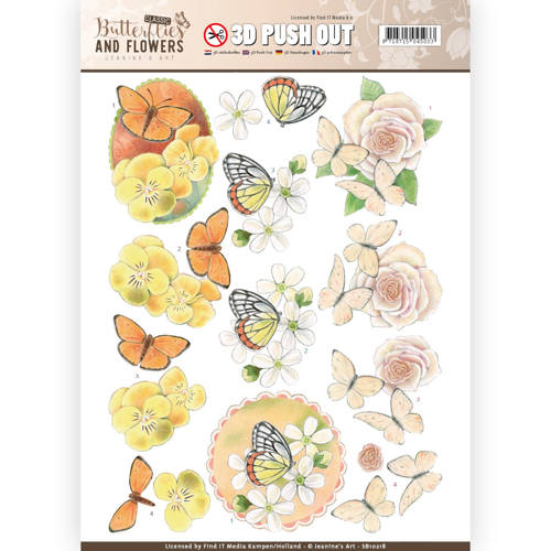 3D Push Out - Jeanine's Art - Classic Butterflies and Flowers - Lovely Butterflies