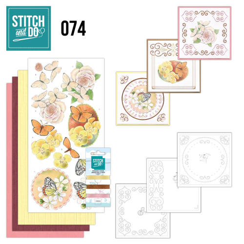 Stitch and Do 74 Vlinders en Bloemen
