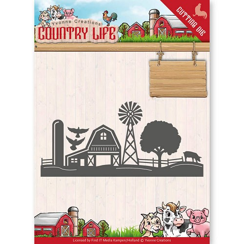 Dies - Yvonne Creations - Country Life Farm Border