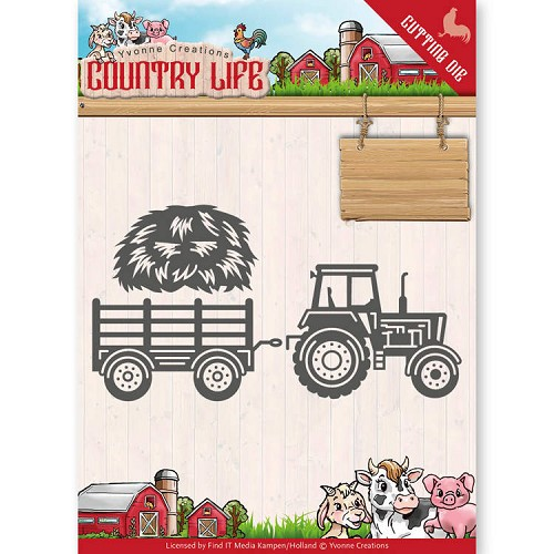 Dies - Yvonne Creations - Country Life Tractor
