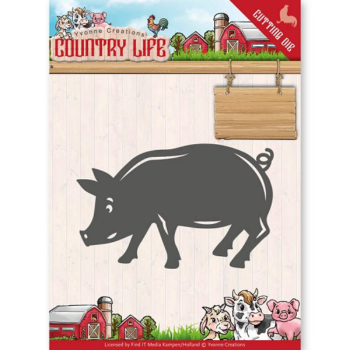 Dies - Yvonne Creations - Country Life Pig