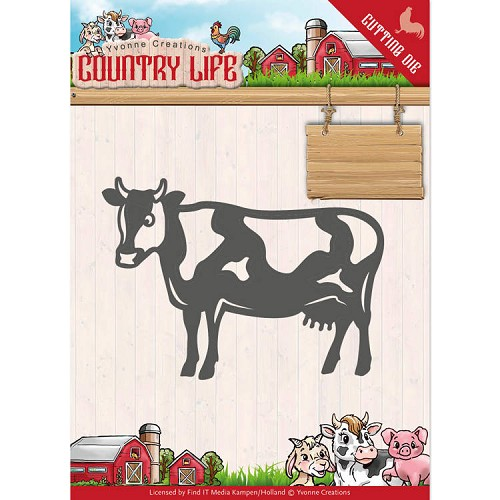 Dies - Yvonne Creations - Country Life Cow
