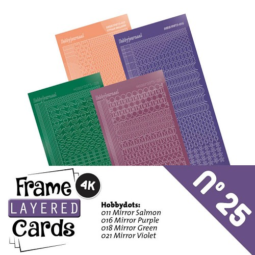 Frame Layered Cards 25 - Stickerset