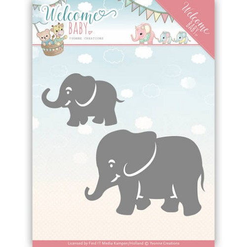 Dies - Yvonne Creations - Welcome Baby - Little Elephants