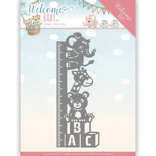 Dies - Yvonne Creations - Welcome Baby - Growth Chart