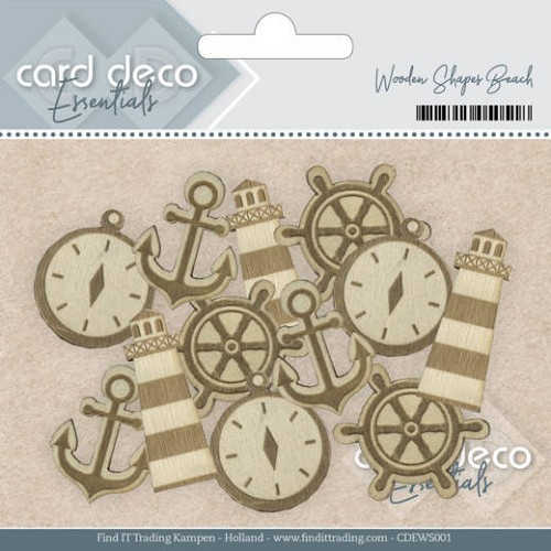Card Deco Essentials - Wooden Shapes Beach