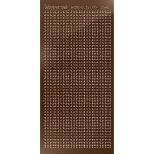 Hobbydots sticker Sparkles 01 Mirror Brown