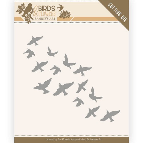 Dies - Jeanine's Art - Birds and Flowers - Flock of Birds