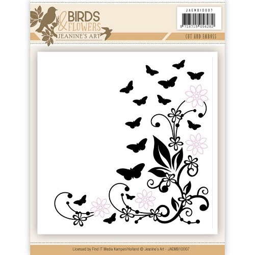 Cut and Embossing folder - Jeanine's Art - Birds and Flowers
