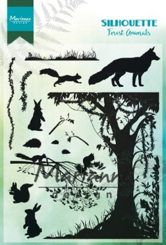 Marianne D Clear Stamps Silhouette bos dieren CS1021 1110x150mm (02-19)