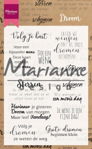 Marianne D Clear Stamps Droom teksten NL CS1019 194x140mm (02-19)