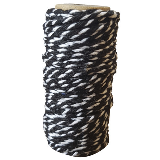 Card Deco Essentials - Bakers Twine black/white