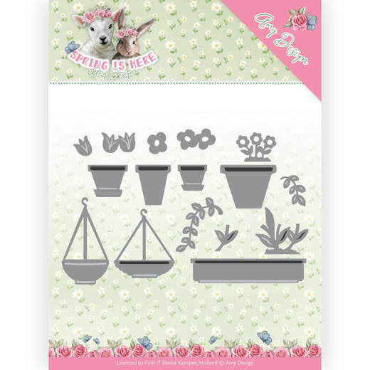 Dies - Amy Design - Spring is Here - Flowerpots