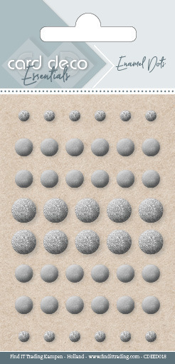 Card Deco Essentials - Enamel Dots Silver