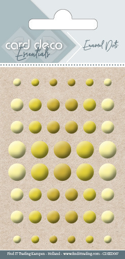 Card Deco Essentials - Enamel Dots Yellow