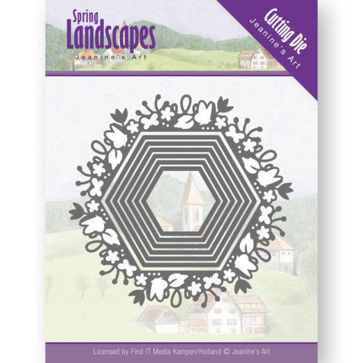Dies - Jeanine's Art - Spring Landscapes - Spring Hexagon