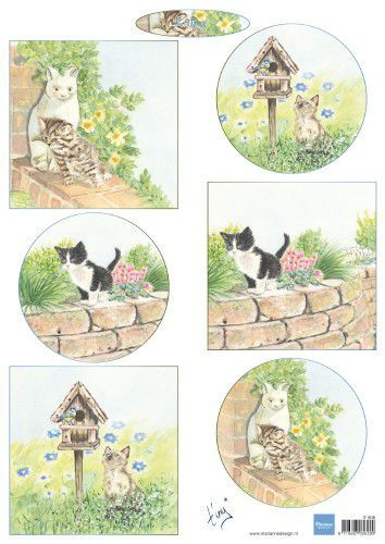 Marianne D Decoupage Tiny's kittens IT608 A4 (04-19)
