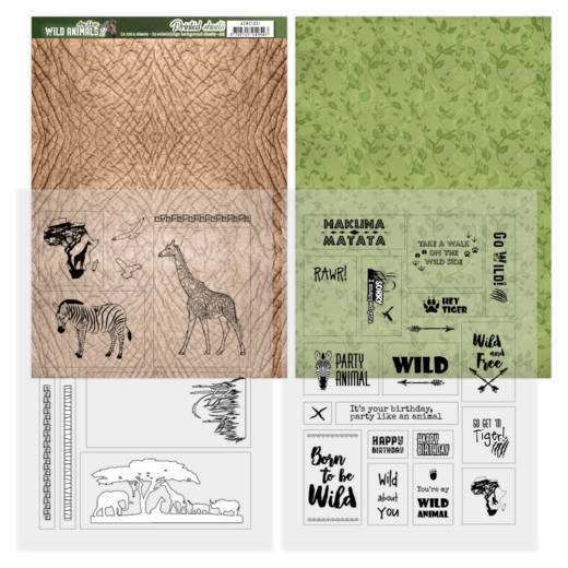 Printed Sheets - Amy Design - Wild Animals