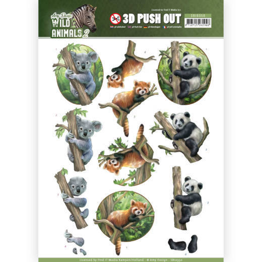 3D Pushout - Amy Design - Wild Animals 2 - Bears