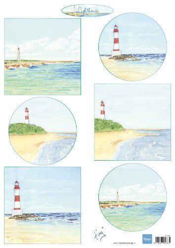Marianne D Decoupage Tiny's vuurtorens IT611A4  (05-19)