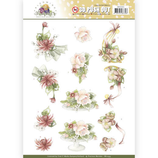 3D Pushout - Precious Marieke - Blooming Summer - Sweet Summer Flowers