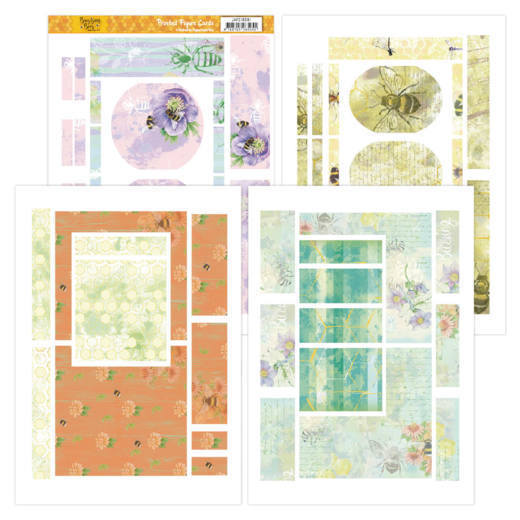Printed Figure Cards - Jeanines Art - Buzzing Bees