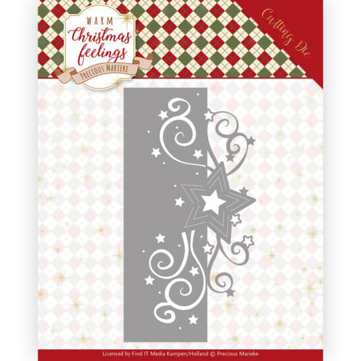 Dies - Precious Marieke - Warm Christmas Feelings - Swirl Star Edge
