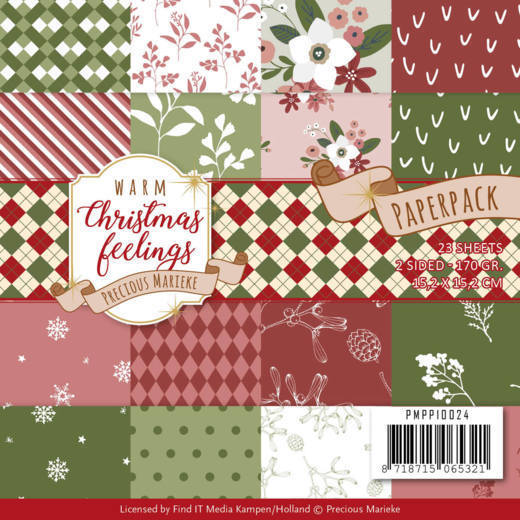 Paperpack - Precious Marieke - Warm Christmas Feelings
