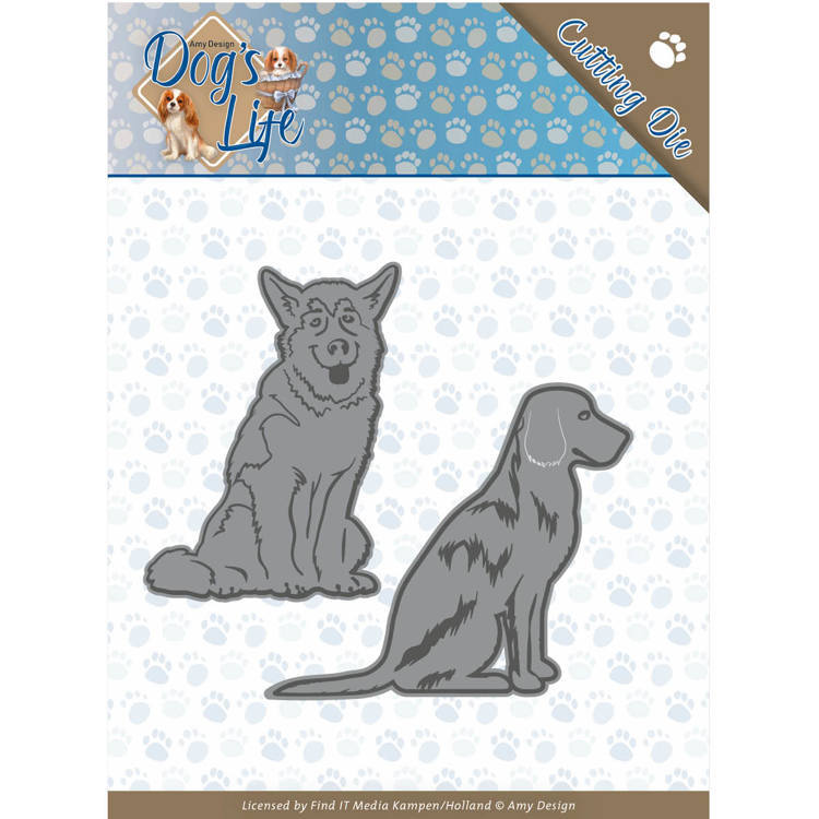 Dies - Amy Design - Dogs - Sitting Dogs