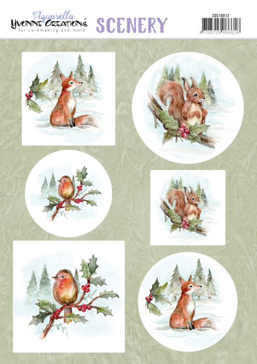 Scenery - Yvonne Creations - Aquarella - Christmas Animals
