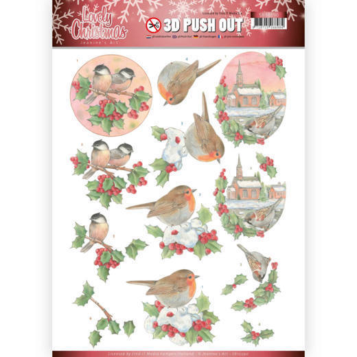 3D Pushout - Jeanine's Art - Lovely Christmas - Lovely Birds