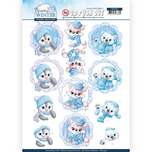 3D Pushout - Yvonne Creations - Sparkling Winter - Winter Friends