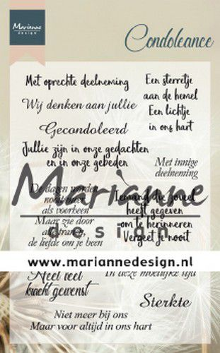 Marianne D Clear Stamps Condoleance (NL) CS1041 115x185 mm (11-19)